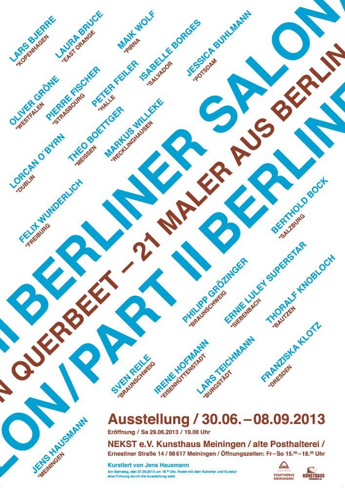 Jens Hausmann BERLINER SALON / QUERBEET - 21 MALER AUS BERLIN - KUNSTHAUS MEININGEN 2013